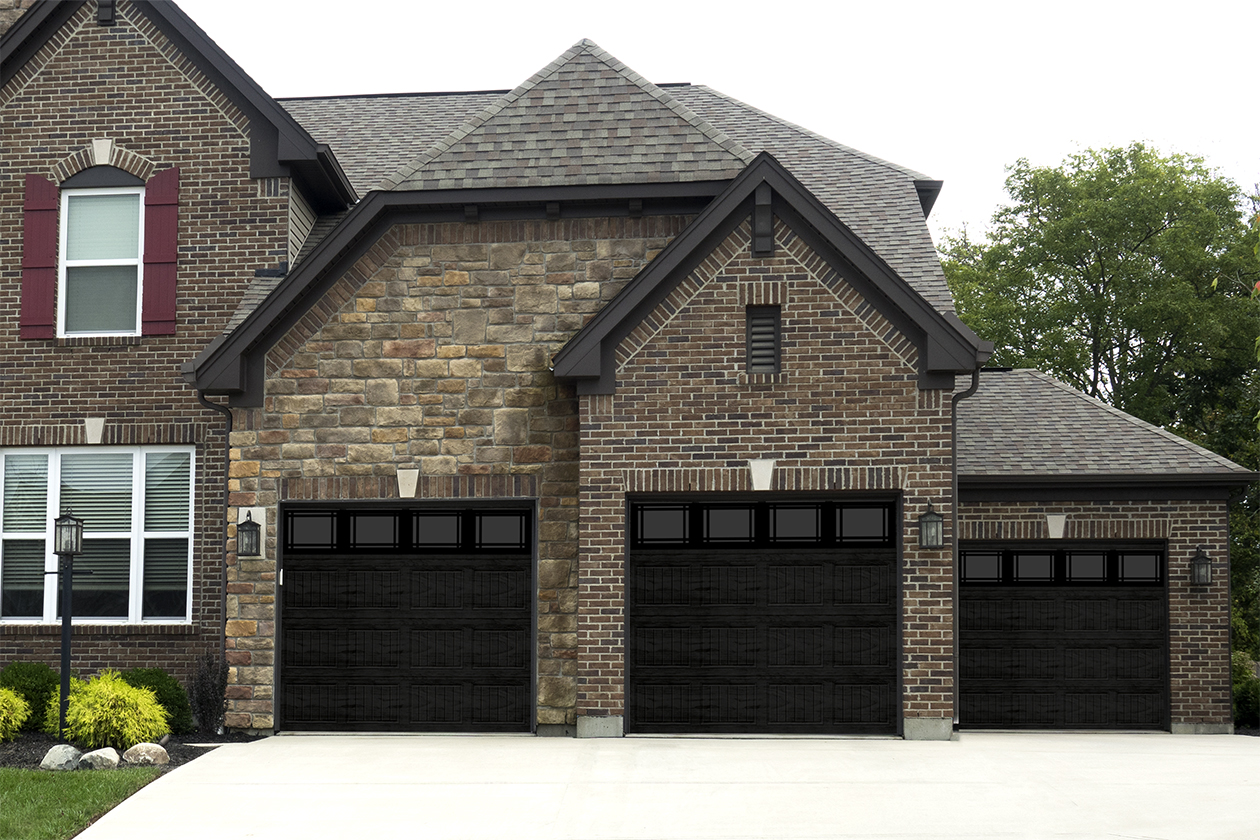 black patrician garage doors
